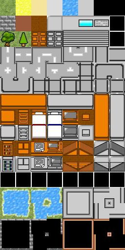 家具、建物マップパターン , マップチップ画像 , 素材/データ