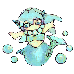 水の精霊 ちびっこ キャラクタ画像 素材 データ Rmake